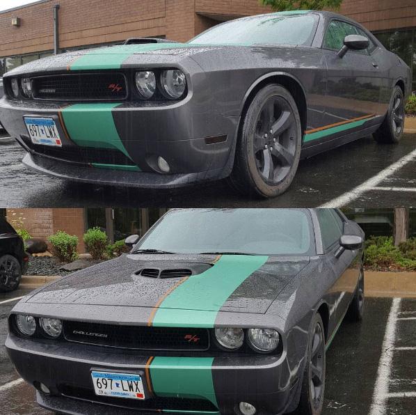Dodge Challenger - Custom Stripe Wrap