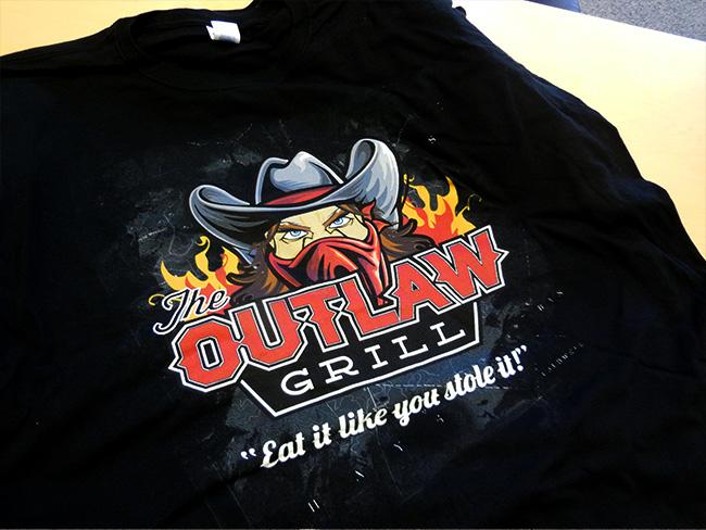 Custom Apparel - Outlaw Grill