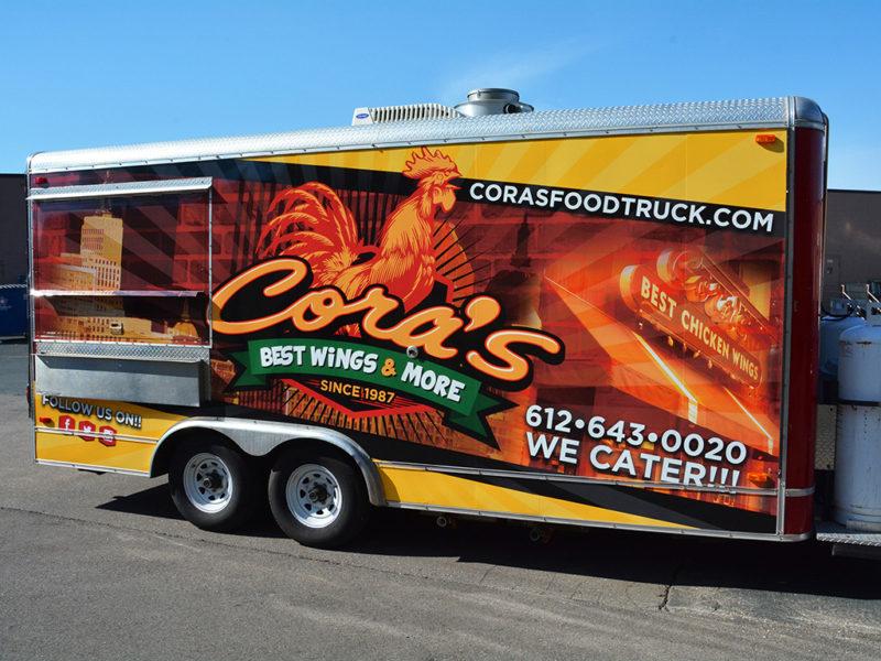 Food Truck Wrap - Cora's