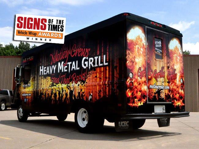 Food Truck Wrap - Heavy Metal Grill