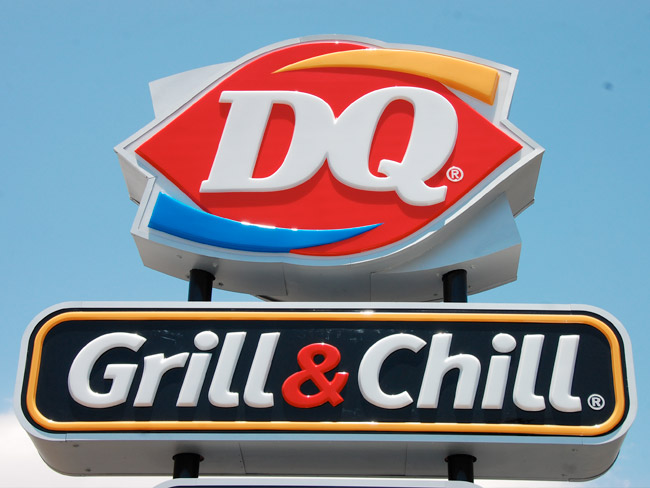 Dairy Queen - Illuminated Cabinet Sign