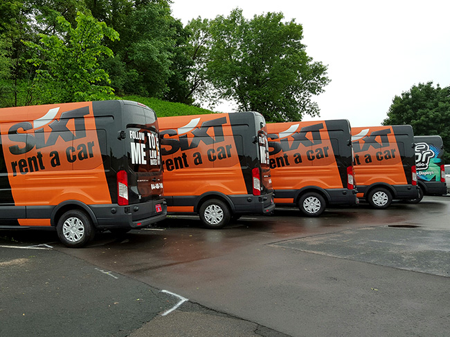 Vehicle Graphics_Sixt Car Rental