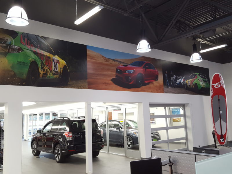 Branded Environment - Morries Subaru