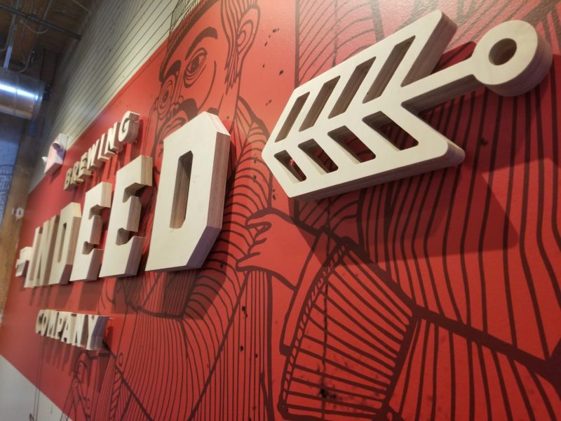 Indeed Brewery - Logo Mural