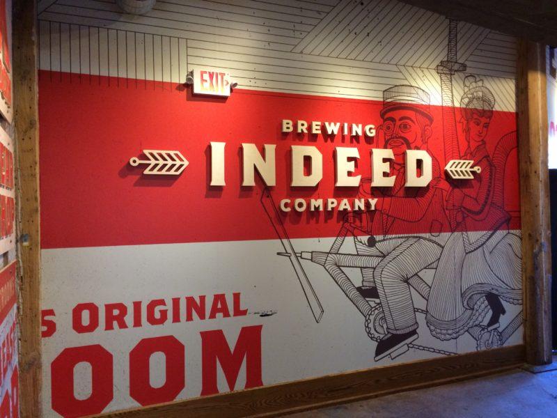 Indeed Brewery - Entrance Logo