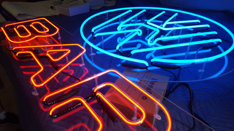 Seventh Street Truck Park - Neon Bar Sign