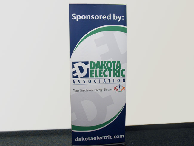 Roll Up Banner Stand - Dakota Electric