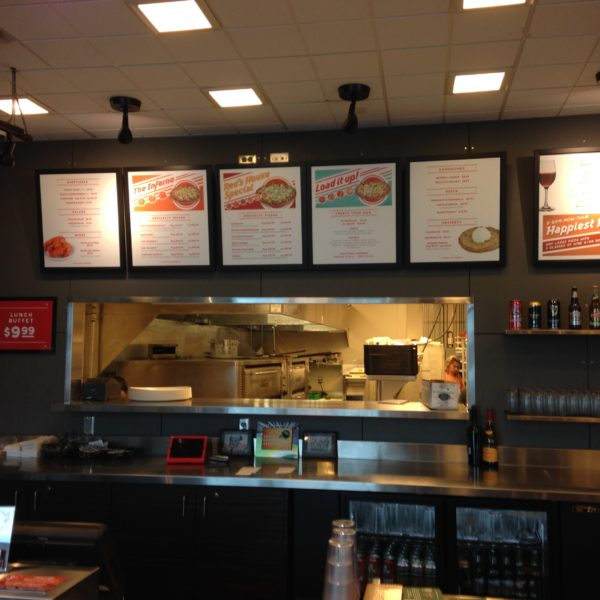 Menu Board Signs - Red's Savoy Pizza