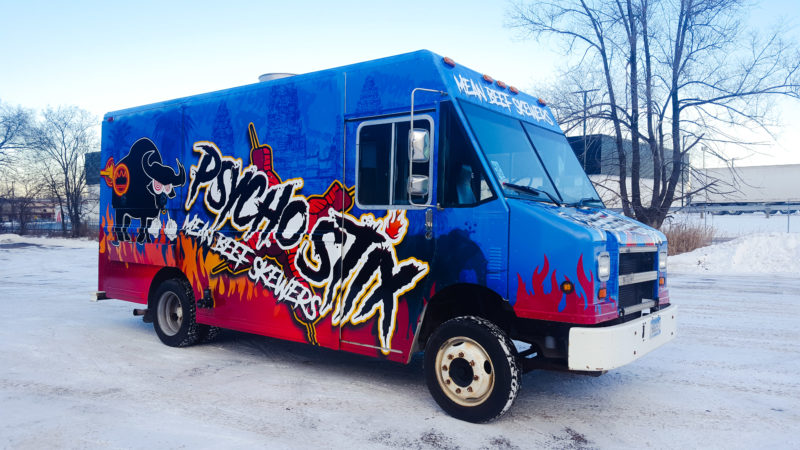 Food Truck Wrap - Psycho Stix