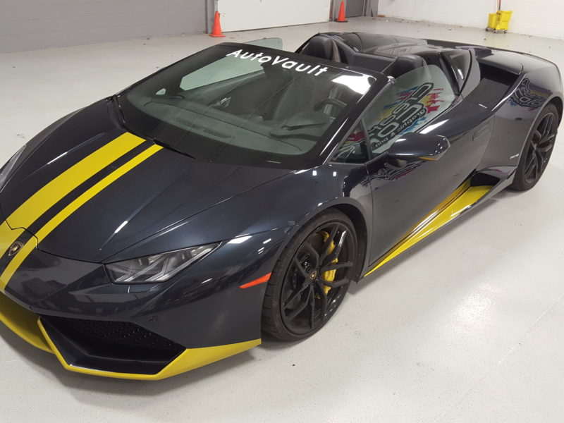 Custom Vehicle Wrap_Lambo Hood Wrap_Hood Stripe