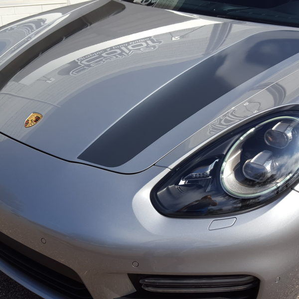 Custom Vehicle Wrap_Porsche Hood Stripes
