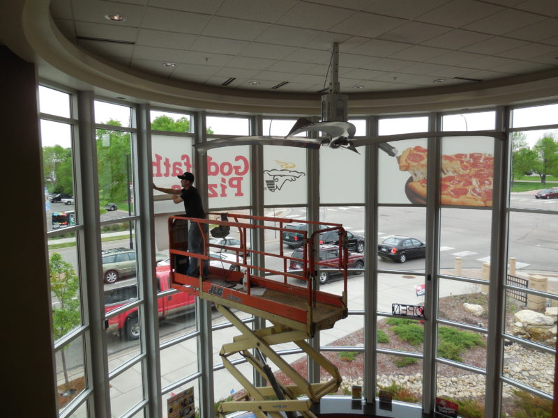 Window Graphics - Godfathers Pizza