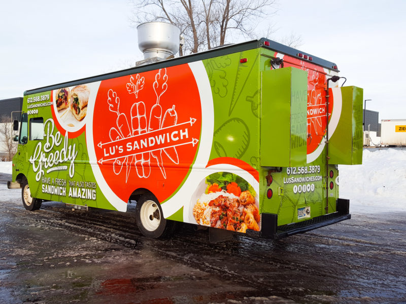Food Truck Wrap - Lu's Sandwiches
